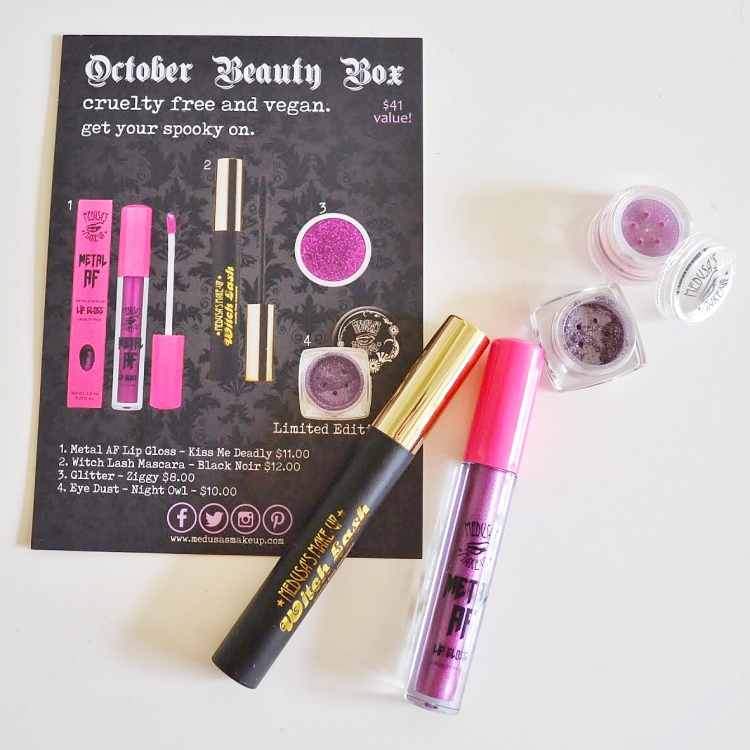 Medusa's Makeup Subscription Review [October 2017] – The Whimsical ...